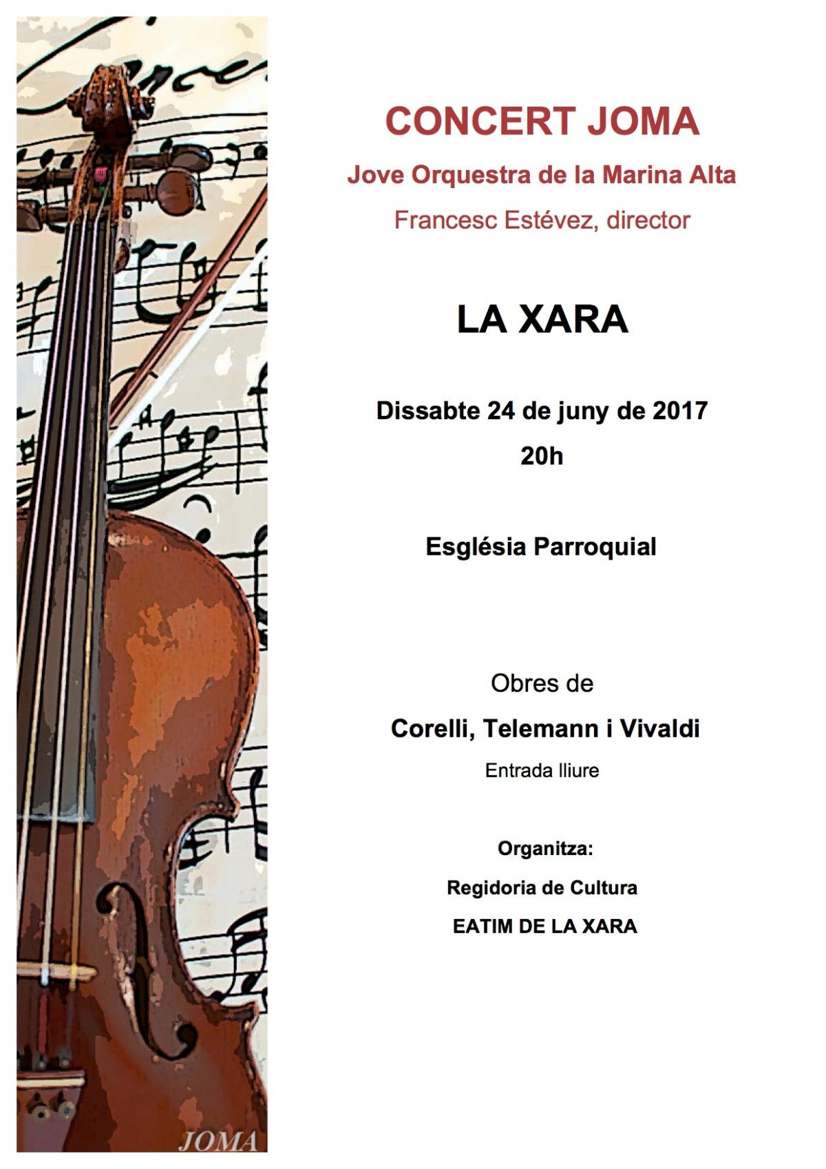 Próximo concierto – LA XARA 24 de junio de 2017 a las20h
